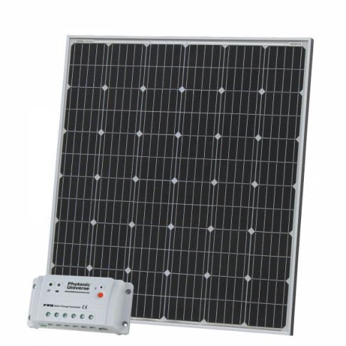 200W 12V solar charging kit with 20A controller and 5m cable (German solar cells)