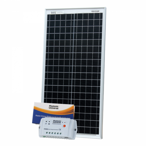 40W 12V solar charging kit with 10A controller and 5m cable (German solar cells)