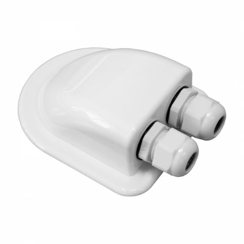 Waterproof double cable entry gland (3-7mm) for motorhomes, caravans, campervans, boats and building installations