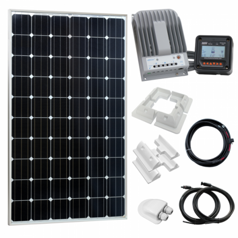 310W 12V/24V Complete solar charging kit with 20A MPPT controller (German solar panel)