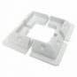 Plastic solar mounting brackets /corner mounts for campervan, caravan, motorhome, boat or any flat roofs and surfaces