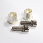 Pair of battery posts with hex socket head M8 bolts designed for batteries with M8 bolt terminals