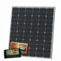200W 12V dual battery solar kit (German solar cells) for camper / boat with controller and cable