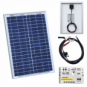 20W 12V solar charging kit with 5A solar controller and battery cable with crocodile clips