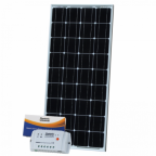 100W 12V solar charging kit with 10A controller and 5m cable