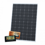 250W 12V dual battery solar kit (German solar cells) for camper / boat with controller and cable