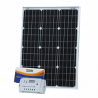 60W 12V solar charging kit with 10A controller and 5m cable (German solar cells)