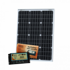 60W 12V dual battery solar kit (German solar cells) for camper / boat with controller and cable
