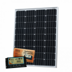 100W 12V dual battery solar kit (German solar cells) for camper / boat with controller and cable