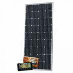180W 12V dual battery solar kit (German solar cells) for camper / boat with controller and cable