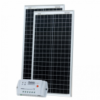 80W (40W+40W) solar charging kit with 10A controller and 2 x 5m cables (German solar cells)