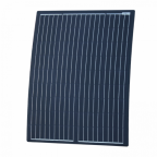 100W Black Reinforced semi-flexible solar panel with round rear junction box and 3m cable, with durable ETFE coating (German solar cells)