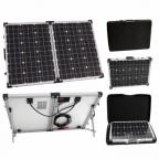 100W 12V folding solar charging kit for camper, caravan, boat or any other 12V system - German solar cells
