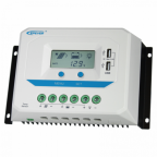 60A 12/24/36/48V solar charge controller / regulator with LCD display and powerful dual USB output (2.4A)