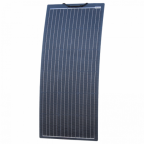 100W black reinforced narrow semi-flexible solar panel with a durable ETFE coating (German solar cells)
