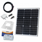 50W 12V solar charging kit (GERMAN solar cells) with 10A controller, mounting brackets and cables