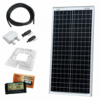 40W 12V dual battery solar charging kit with 10A controller, mounting brackets and cables