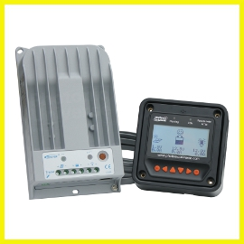 10A MPPT controller with remote meter (TR1215BN-RM)